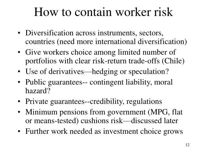 How to contain worker risk