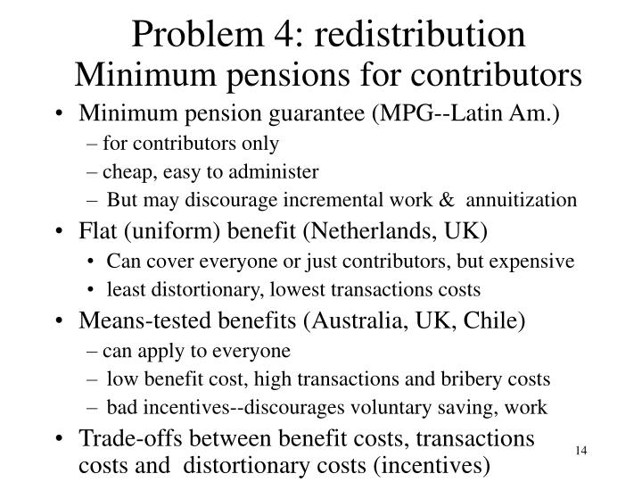 Problem 4: redistribution