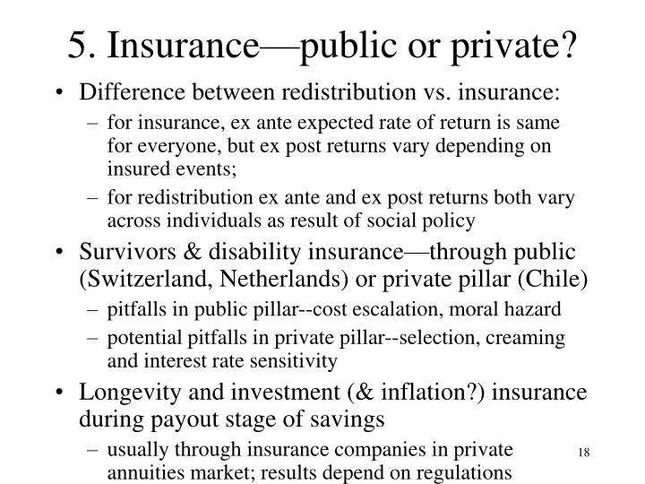 5. Insurance—public or private?