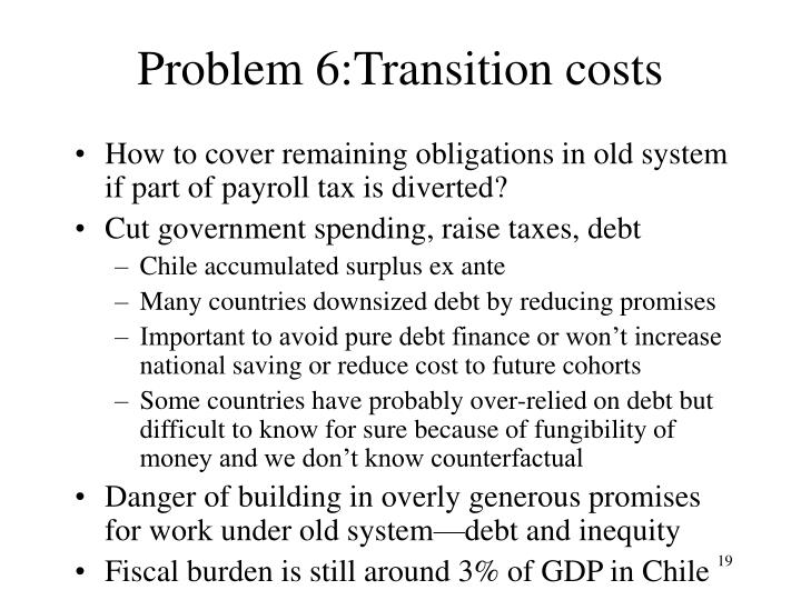 Problem 6:Transition costs