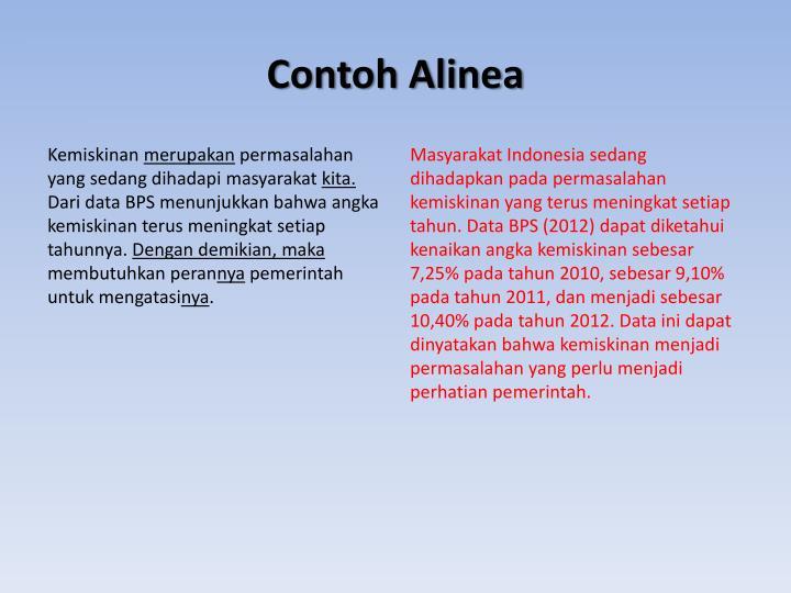 Contoh Alinea