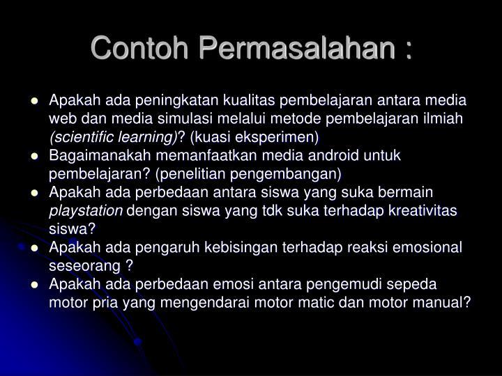 Contoh Permasalahan :