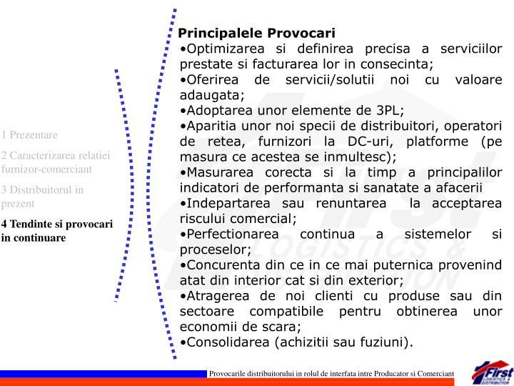 Principalele Provocari