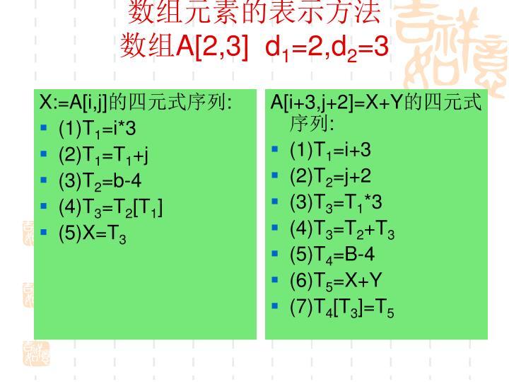 X:=A[i,j]