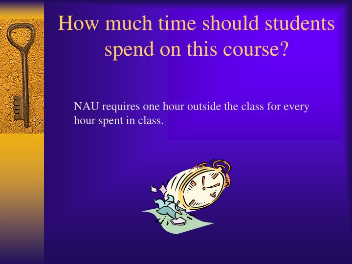 How much time should students spend on this course?