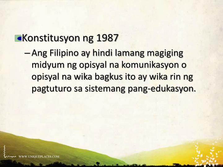 Konstitusyon