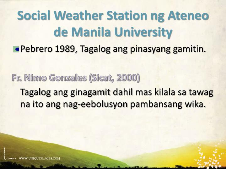 Social Weather Station