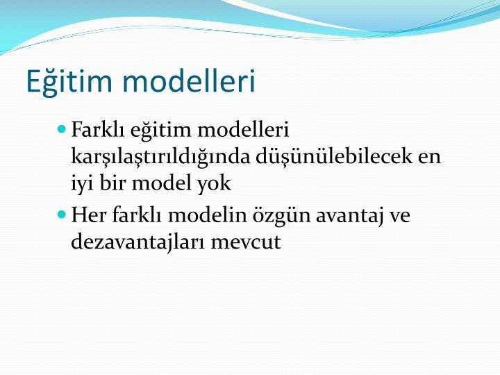 Eğitim modelleri