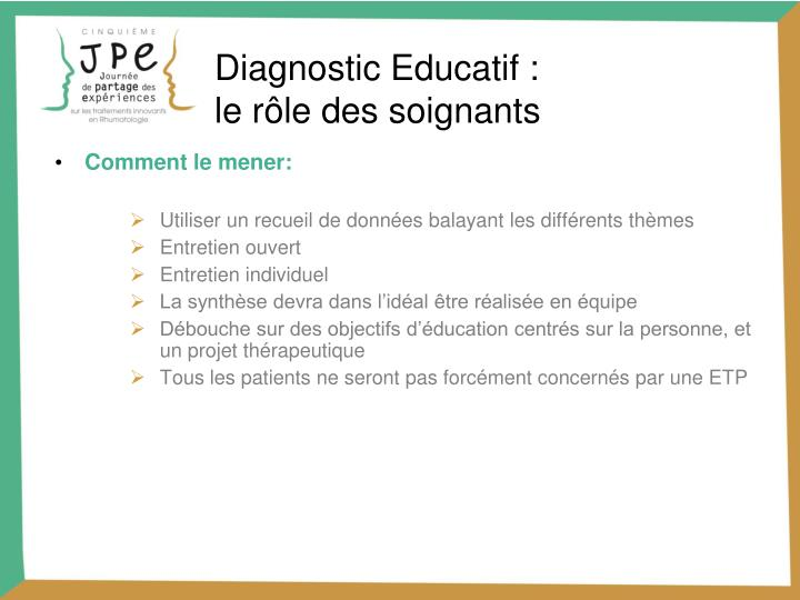 Diagnostic Educatif :