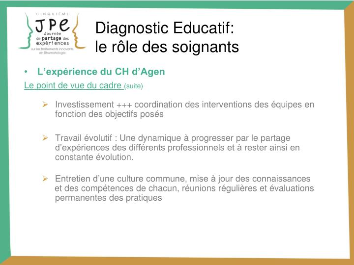 Diagnostic Educatif: