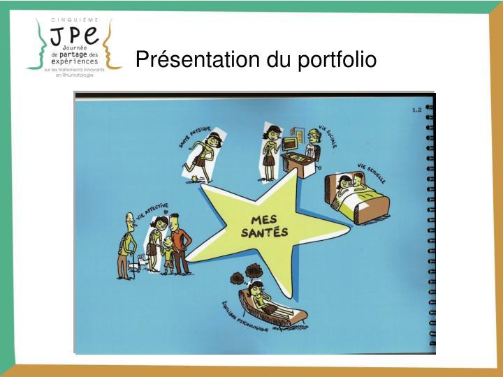 Présentation du portfolio