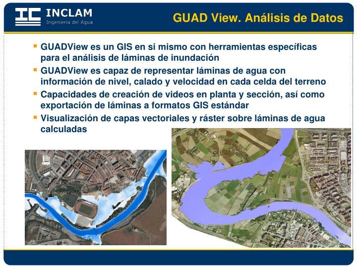GUAD View. Análisis de Datos