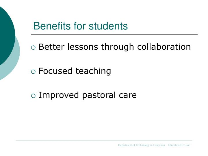 Benefits for students
