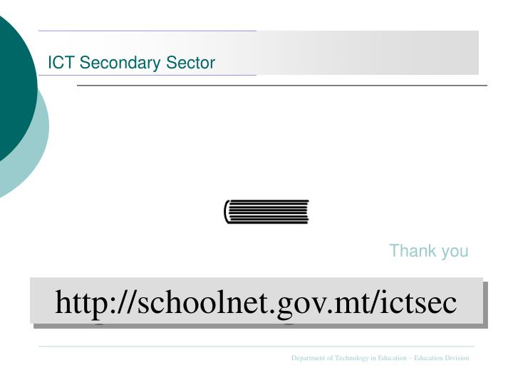 ICT Secondary Sector
