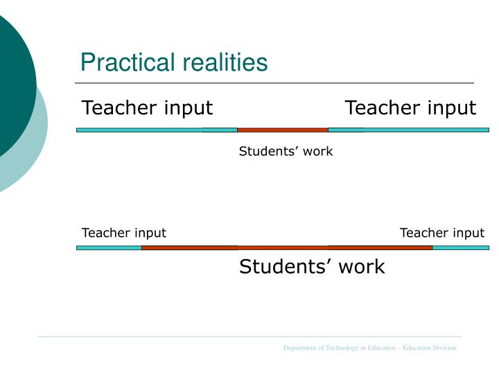 Practical realities
