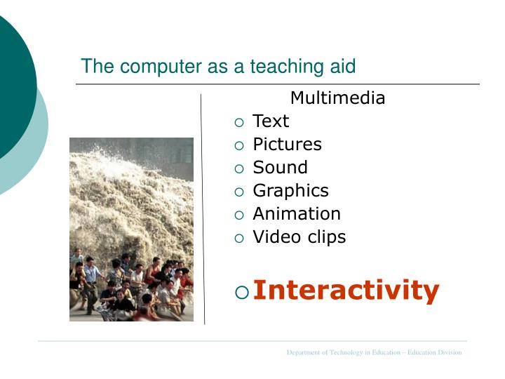 The computer as a teaching aid