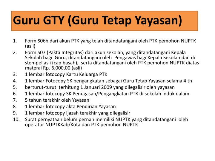 Guru GTY (Guru Tetap Yayasan