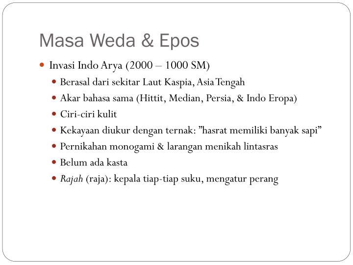 Masa Weda & Epos