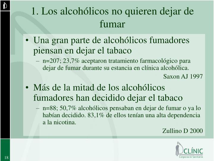 1. Los alcohólicos no quieren dejar de fumar