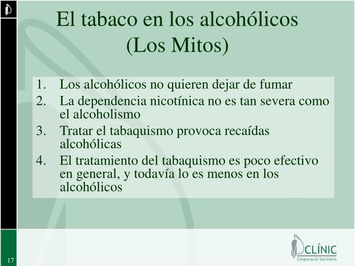 El tabaco en los alcohólicos
