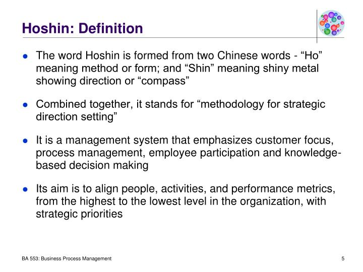 Hoshin: Definition