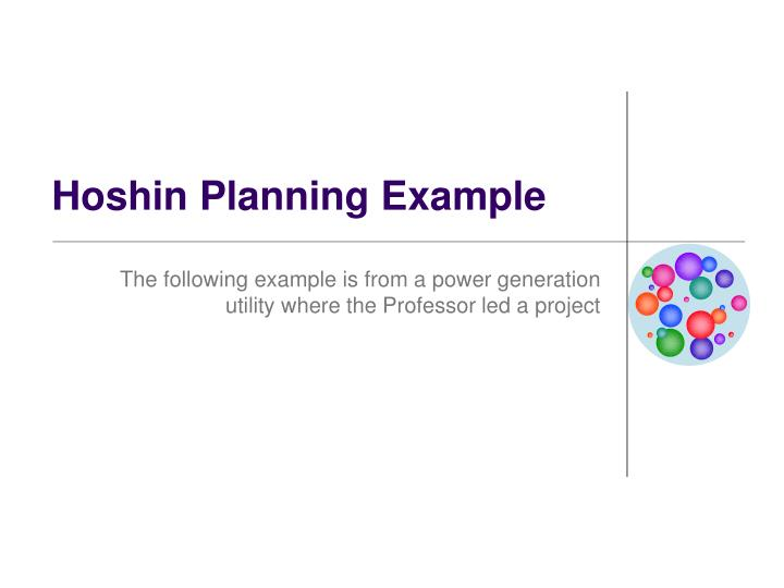 Hoshin Planning Example