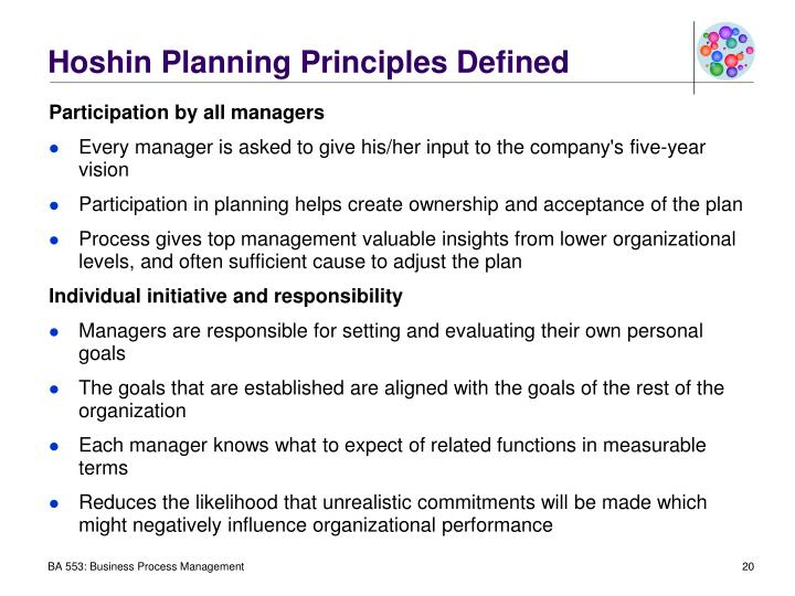 Hoshin Planning Principles Defined