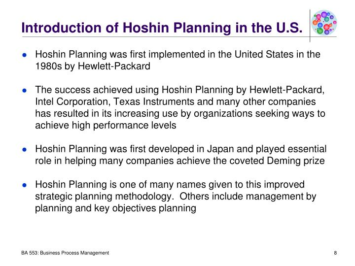 Introduction of Hoshin Planning in the U.S.