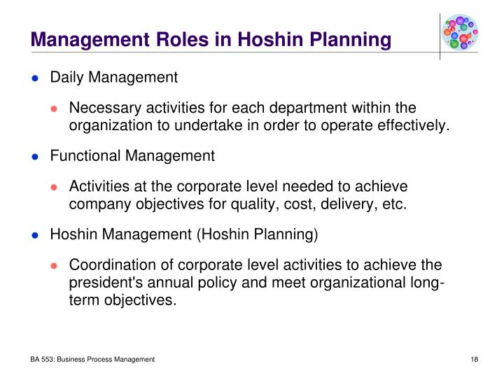 Management Roles in Hoshin Planning