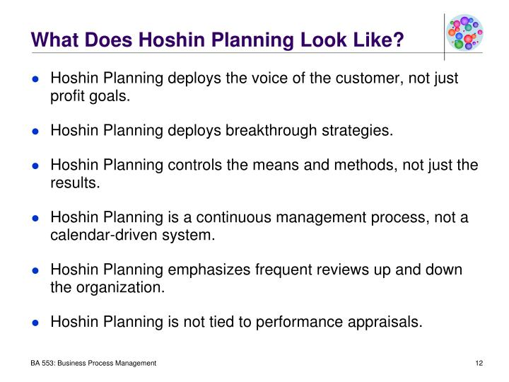 What Does Hoshin Planning Look Like?