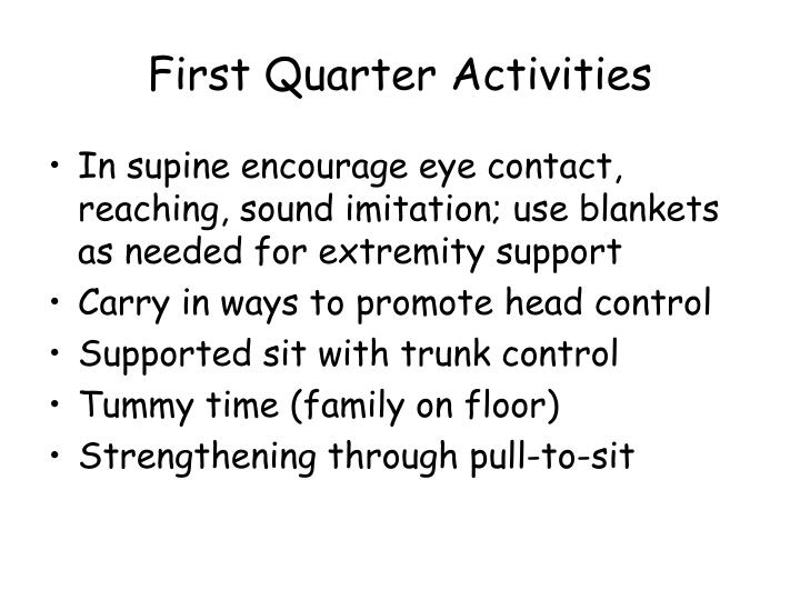 First Quarter Activities