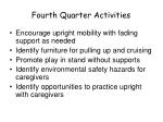 fourth quarter activities