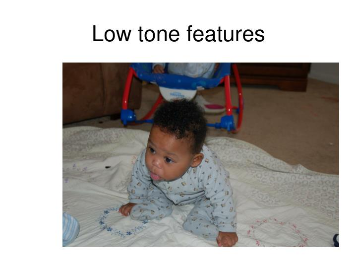 Low tone features