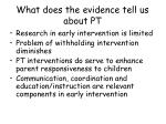 what does the evidence tell us about pt