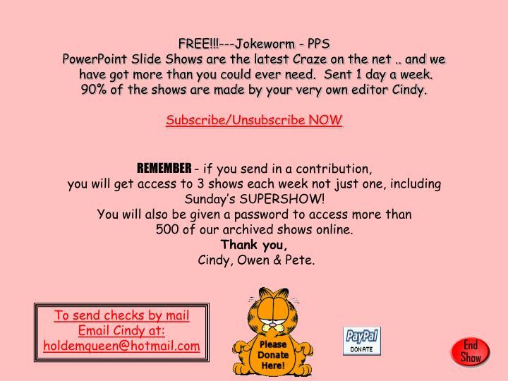 FREE!!!---Jokeworm - PPS