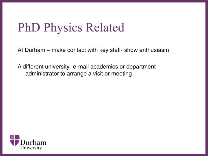 PhD Physics Related