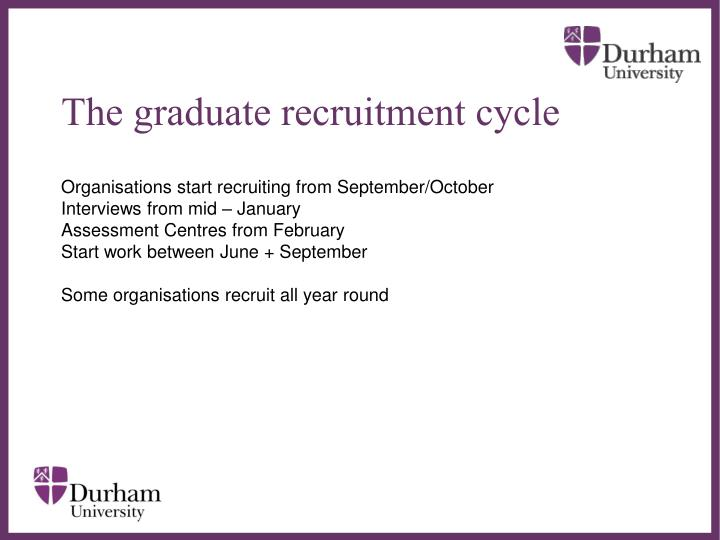 The graduate recruitment cycle