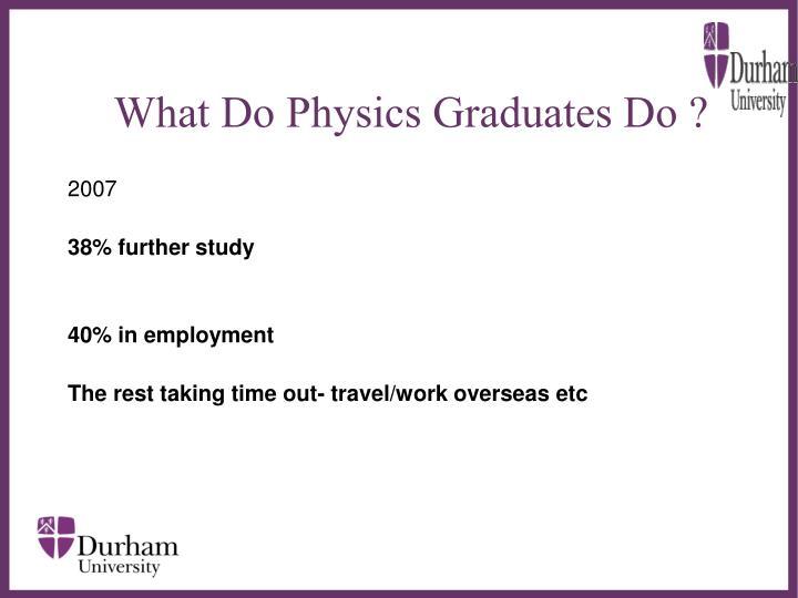What Do Physics Graduates Do ?