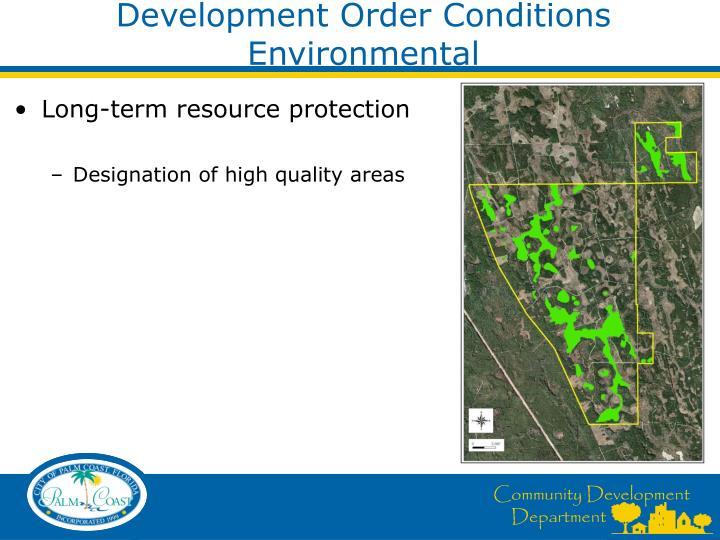 Development Order Conditions  Environmental