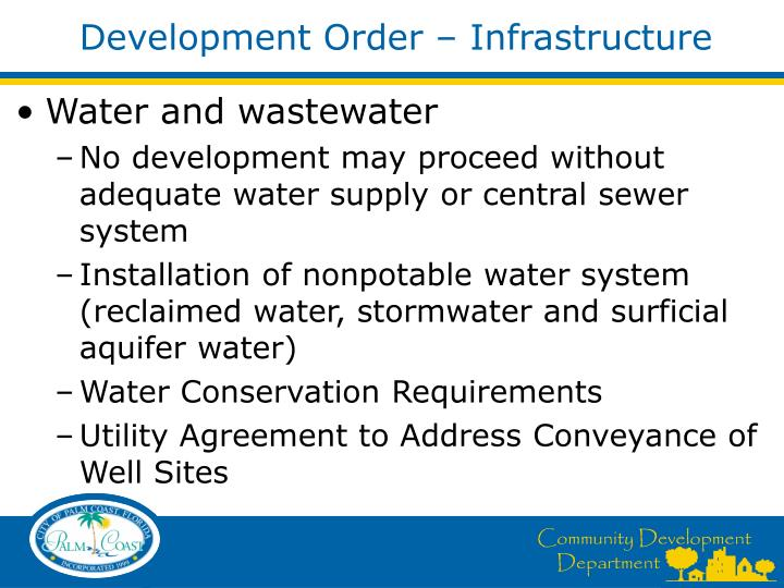 Development Order – Infrastructure