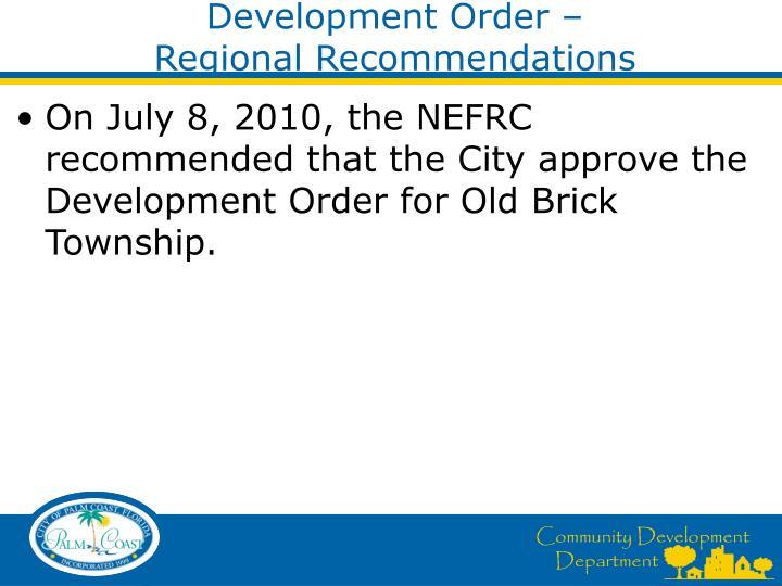 Development Order –