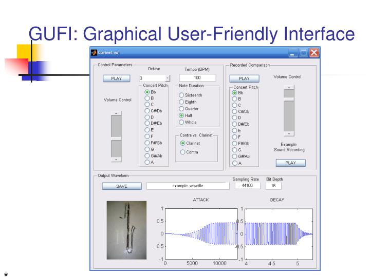 GUFI: Graphical User-Friendly Interface