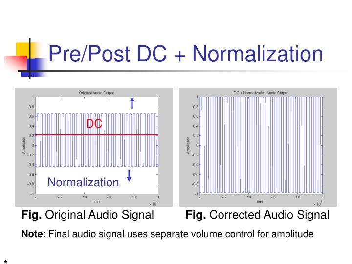 Pre/Post DC + Normalization