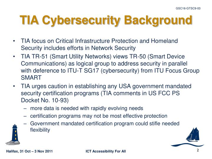 Tia cybersecurity background