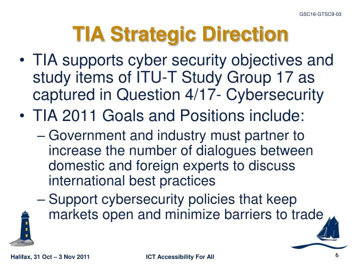 TIA Strategic Direction