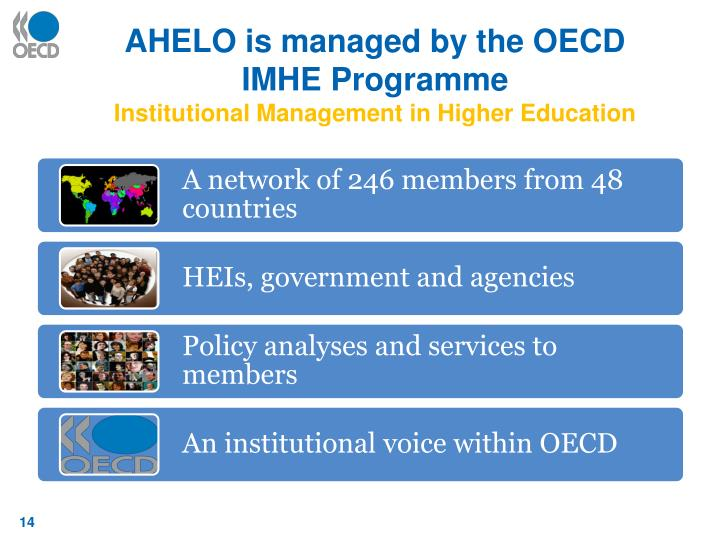 AHELO is managed by the OECD