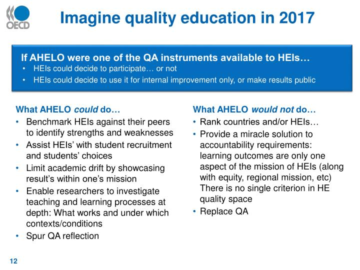Imagine quality education in 2017