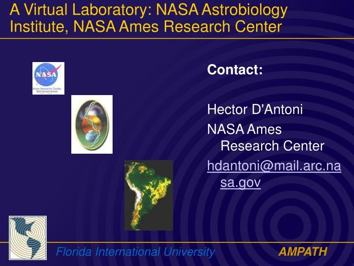 nasa ames research center address - photo #47