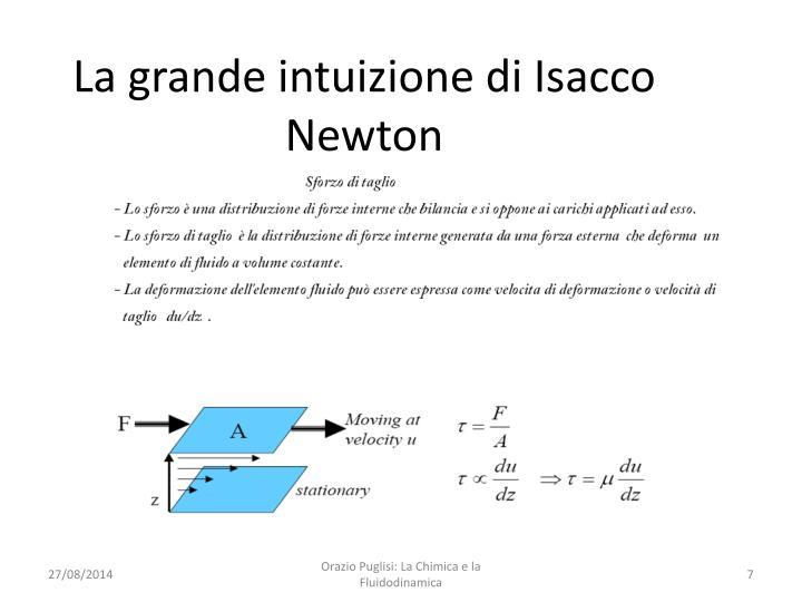 La grande intuizione di Isacco Newton