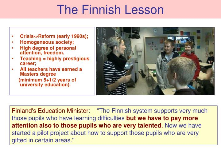 The Finnish Lesson